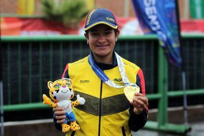 Santandereana Ana Cristina Sanabria, campeona en prueba de ruta en Juegos Suramericanos