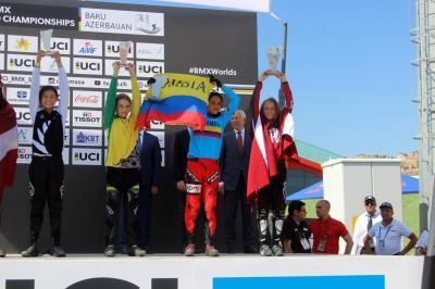 Barranqueña hace historia de nuevo en Mundial de BMX