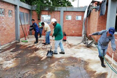 En La Cumbre se le  hizo mantenimiento  al Centro Cultural