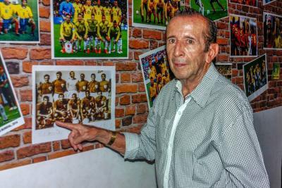 El 'Cuca' Aceros inauguró el Museo Mundial de Fútbol, en Casa Paragüitas