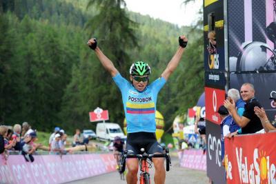 Colombiano Einer Rubio se impuso en la quinta etapa del Giro de Italia sub-23
