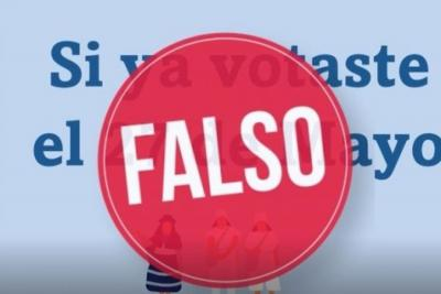 No crea en falsa cadena en redes que dice que no es necesario votar este domingo