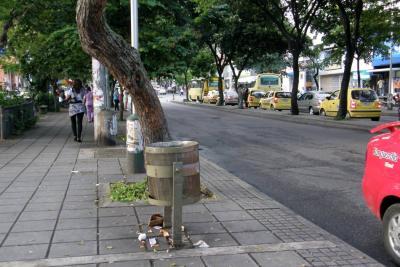 Solo hay canecas de basura en 6 de las 17 comunas de Bucaramanga