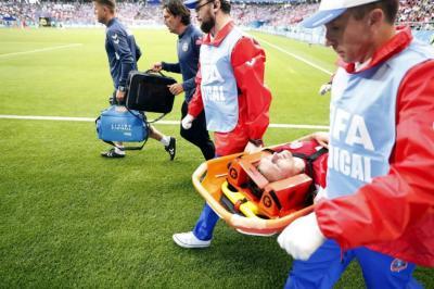 Primer jugador en decirle adiós al Mundial Rusia 2018 registra dos costillas rotas