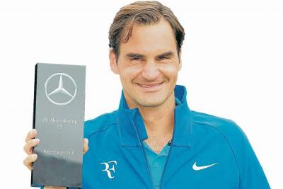 Federer ganó en Stuttgart y es otra vez el número uno