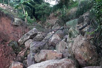 Colapsó lago artificial en la vereda Guamo Medio de Piedecuesta