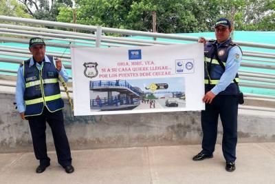 Campaña promueve el uso de los puentes