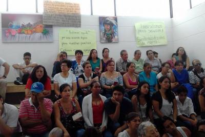 Comunidad llegó al Concejo para exigir una vivienda digna