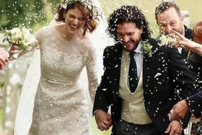 """Este sábado """"Jon Snow"""" se casó con la """"salvaje"""""""