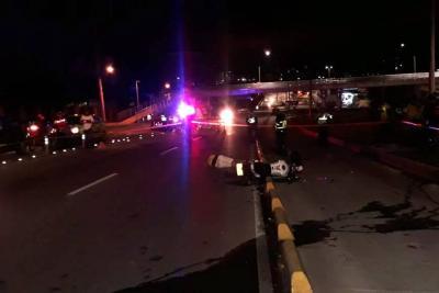 Motociclista murió al chocar contra barrera de señalización en Bucaramanga
