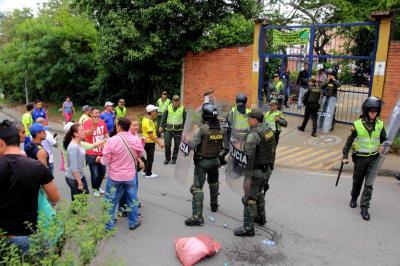Fuerza pública y comunidad se enfrentaron en Zapamanga II