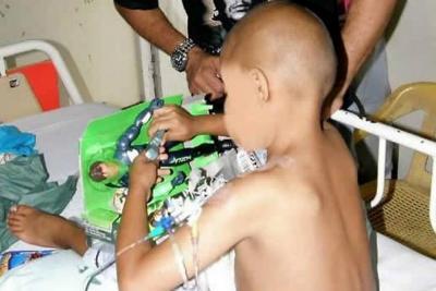 Niño con cáncer en Bucaramanga espera el pago de su EPS para un trasplante