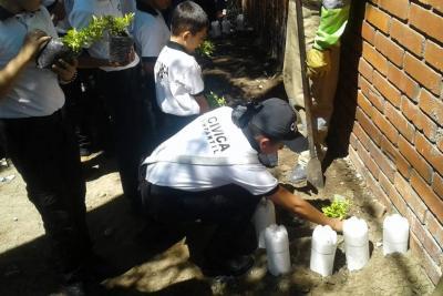 La Cívica Juvenil hizo su siembra de árboles