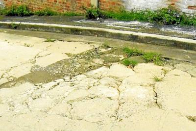 En Fátima las vías están en mal estado