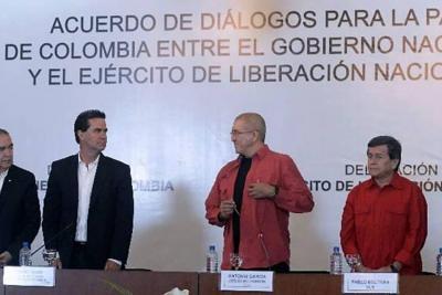 Eln descarta un alto al fuego en la reanudación de diálogos