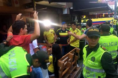 Refuerzan seguridad en Bucaramanga por partido Colombia-Inglaterra