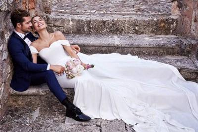 David Bisbal comparte una foto de su boda con Rossana Zanetti