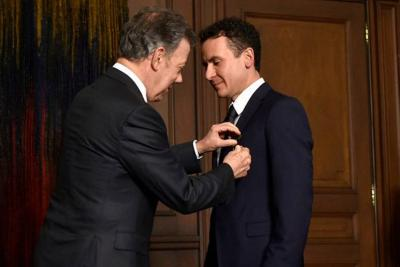Fonseca fue galardonado con la Orden de Boyacá en el grado de Oficial