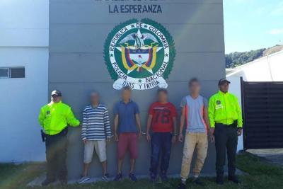 Policía desmantela banda que hurtaba y torturaba a finqueros en Santander