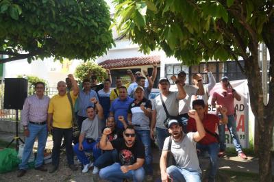Protesta de escoltas a nivel nacional se toma El Puerto
