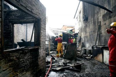 Atienden incendio en el barrio Torcoroma