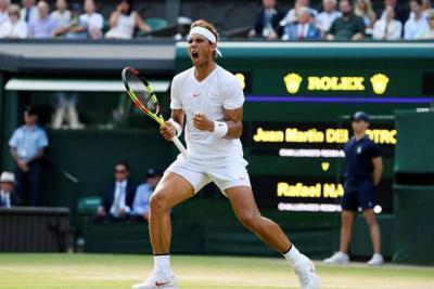 Tras una gran batalla de casi cinco horas, Nadal venció a Del Potro en Wimbledon
