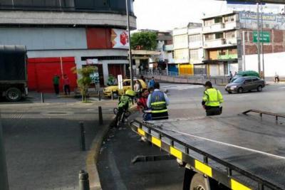 Conductor arrolló a un agente de Tránsito en Bucaramanga