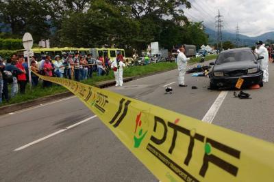 Otro motociclista murió tras grave accidente en la vía Floridablanca - Bucaramanga