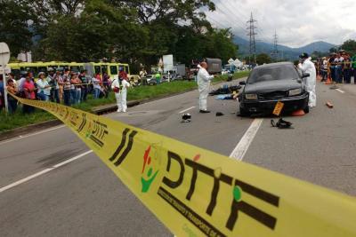 Accidentes en las vías del área dejaron dos hombres muertos
