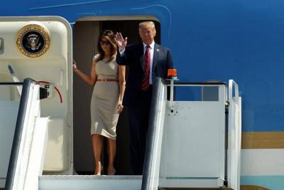 Trump llegó a Londres para visita oficial