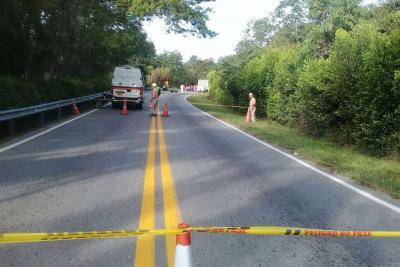 Motociclista falleció en accidente en la vía entre Bucaramanga y Barrancabermeja