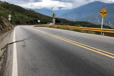 Mantenimiento de tramo vial entre Floridablanca y Girón, en ejecución