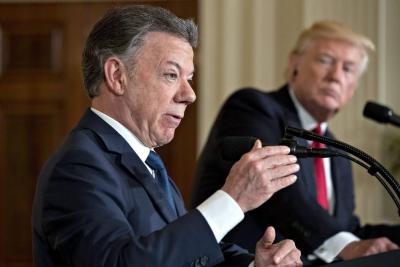 Santos solicitó a Trump un diálogo con Putin para que no apoye el régimen de Maduro