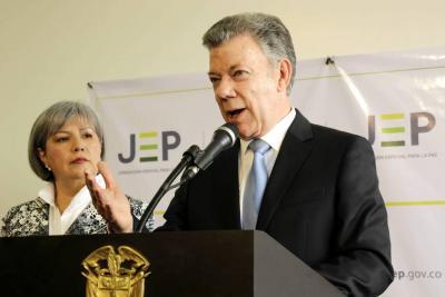 """Santos destacó los """"primeros frutos"""" de la Jurisdicción Especial para la Paz"""