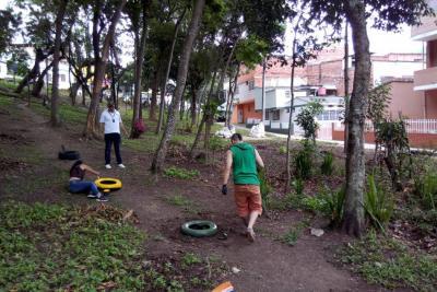 Cambió de aspecto el parque de Zapamanga I