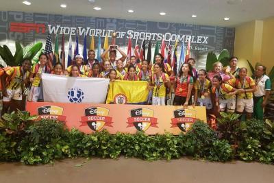 Selección Santander Sub 14, campeona del Mundial Disney de Fútbol