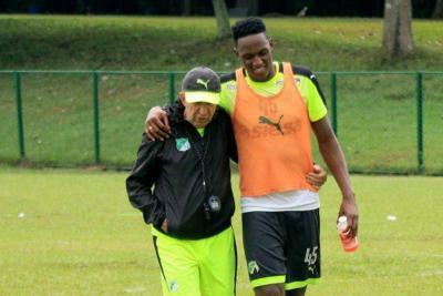 Yerry Mina entrena con Deportivo Cali antes de unirse al Barcelona