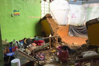 Una persona fallecida y otra herida dejó el aguacero que cayó en Bucaramanga