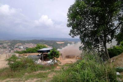 El foco de contaminación en Lagunetas fue inspeccionado