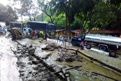 Este es el reporte de emergencia por lluvias en San Gil
