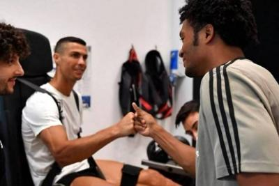 Así fue el encuentro de Cuadrado y Cristiano en su primer día de entrenamiento