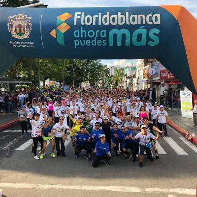 Más de 450 personas participaron de la 'Bailatón' en Floridablanca