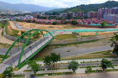 El otro puente en sector de San Jorge, listo para arrancar