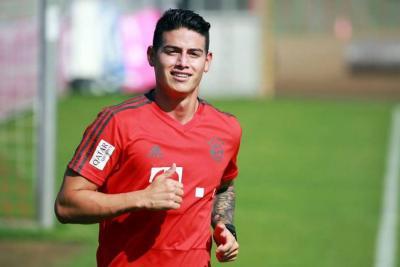 James Rodríguez regresó de vacaciones y ya entrena con el Bayern Múnich