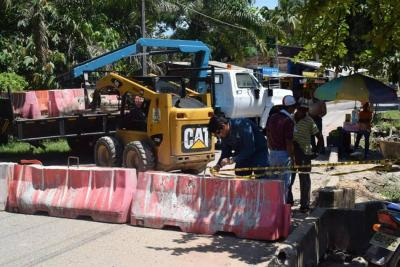 Cerraron puente en Barrancarbemeja para evitar una tragedia