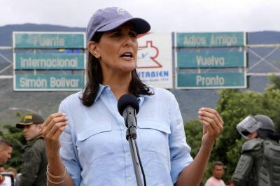 """""""Hay un dictador en Venezuela"""": embajadora de EEUU ante la ONU en su visita a Cúcuta"""
