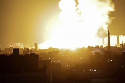 Un palestino muerto y ocho heridos en ataques israelíes en Gaza