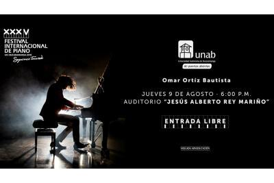 El XXXV Festival Internacional de Piano 2018 llega a la UNAB