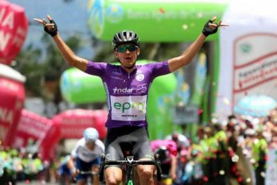 Juan Pablo Suárez: ganador de la quinta etapa de la Vuelta a Colombia