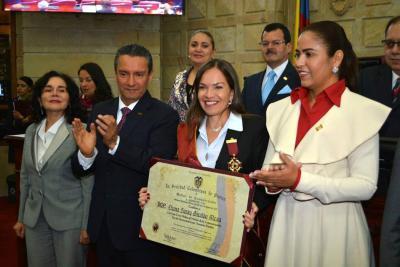 Orden al Mérito de la Comunicación Iberoamericana para Diana S. Giraldo